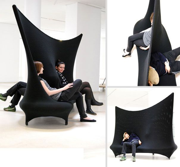 Double face sofa, it looks like fun!Sofas Couch, Sofas Und, 50 Creative, Interiors Design, Stylisch Sofas, Modern Interiors, Creative Furniture, Chairs Design, Weird Sofas