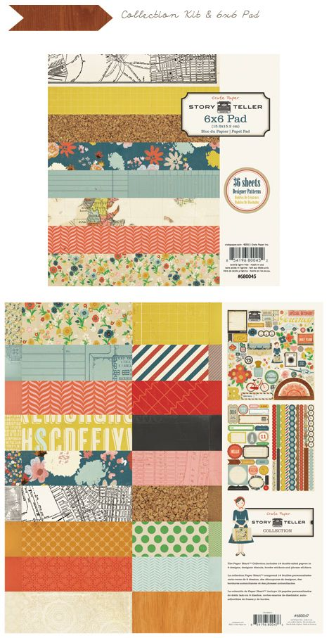 Crate Paper- 'Story Teller' collection: bought the 12x12 paper pad for $5 at M's!