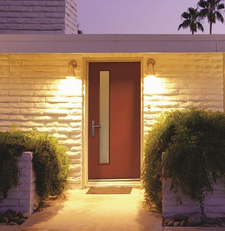 Therma Tru fiberglass door in  Raucous Orange  Door is fitted with a60 best Front doors images on Pinterest   Doors  Front entry and  . Front Door Color Trends 2014. Home Design Ideas