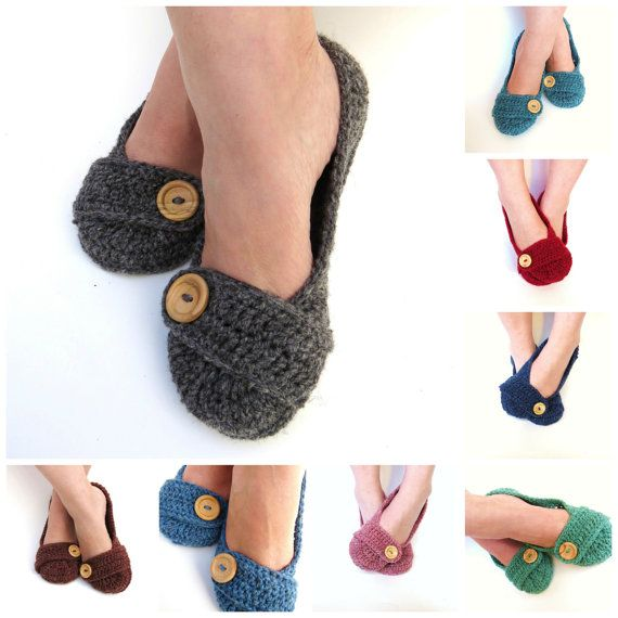 CHOOSE YOUR COLOUR Crochet House Slippers by StoneyCreekKnitters, $28.00