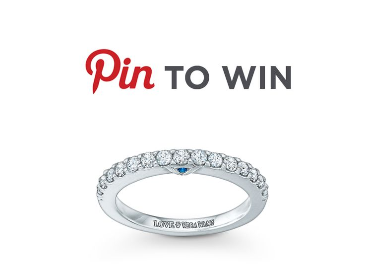 LOVE Vera Wang? Pin to WIN! Grand Prize: a Vera Wang LOVE Collection 1/2 CT. T.W. Diamond Anniversary Band in 14K White Gold! Click through to ENTER! #Sweepstakes #Zales #VeraWang #PintoWin