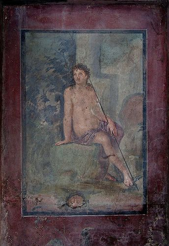 Fresco depicting the myth of Narcissus, House of Octavius Quartio, Pompeii