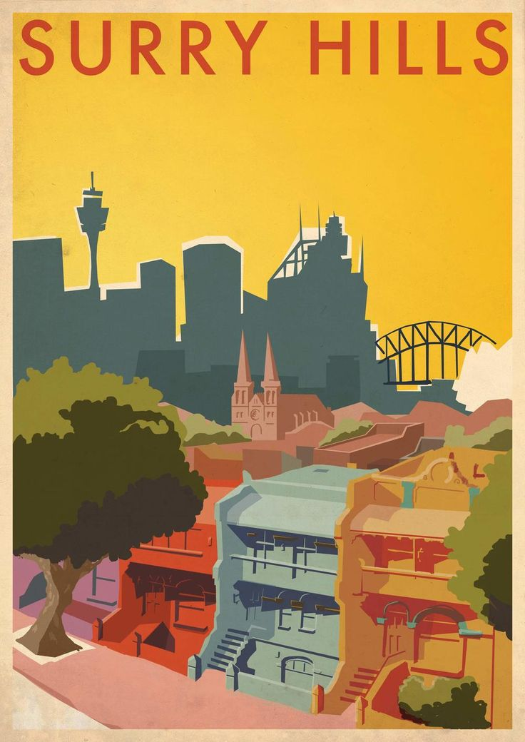 Jeremy Lord illustration Sydney Australia — Surry Hills Vintage