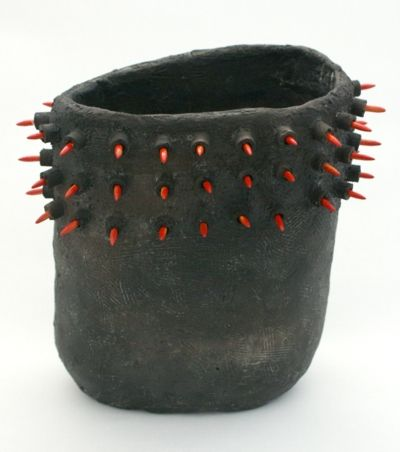 open vessel with red spines, Simon Beer