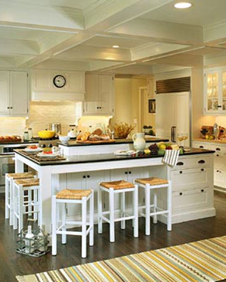 Best Kitchen Island Attached Table Images On Pinterest