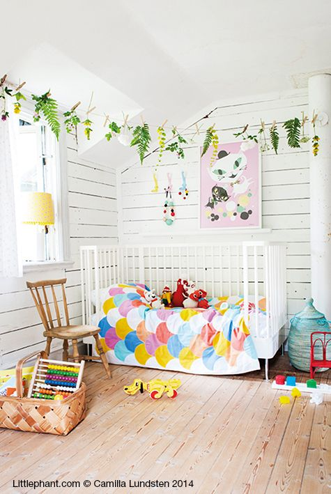 bright kids room...