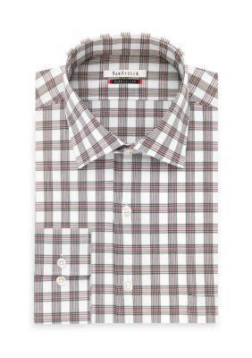 Van Heusen Men's Van Heusen Big And Tall Dress Shirt - Red - 17.5 37/38