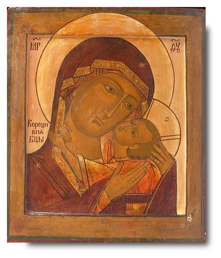 Virgin of Korsun - exhibited at the Temple Gallery, specialists in Russian icons