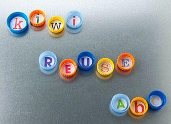 plastic lid ABC magnets found at Kiwi Magazine Online: Plastic Bottle Cap, Recycled Bottle, Bottlecap Magnets, Alphabet Letters, Alphabet Magnets, Abc Magnets, Bottle Cap Projects, Reuse Bottle, Bottle Cap Magnets