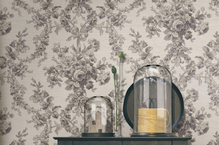 Romantic Damask Wallpaper. Italian Style Tradition. Essener. Wirz Tapeten AG
