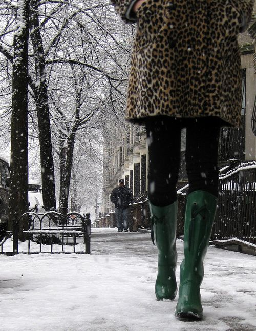 Chic winter street style. #Leopard  with <3 from JDzigner www.jdzigner.com