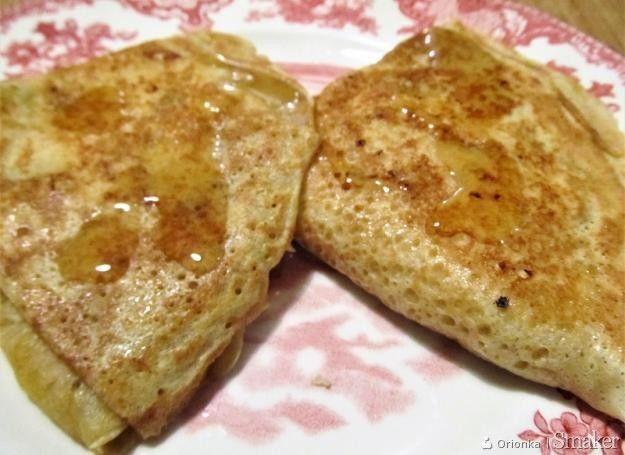 Naleśniki z serem o smaku śliwkowo-pomarańczowym.