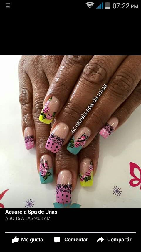 69 best uñas images on Pinterest   Nail design, Nail nail and Manicures