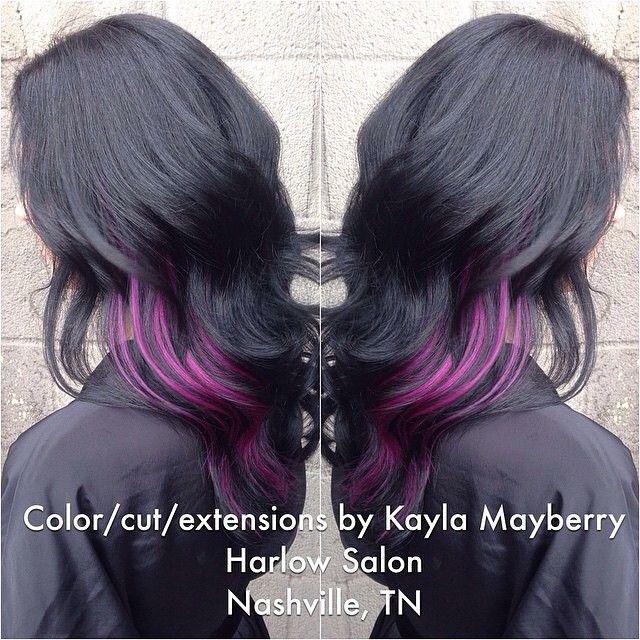 Raven Black and Peekaboo Purple - Hair Colors Ideas