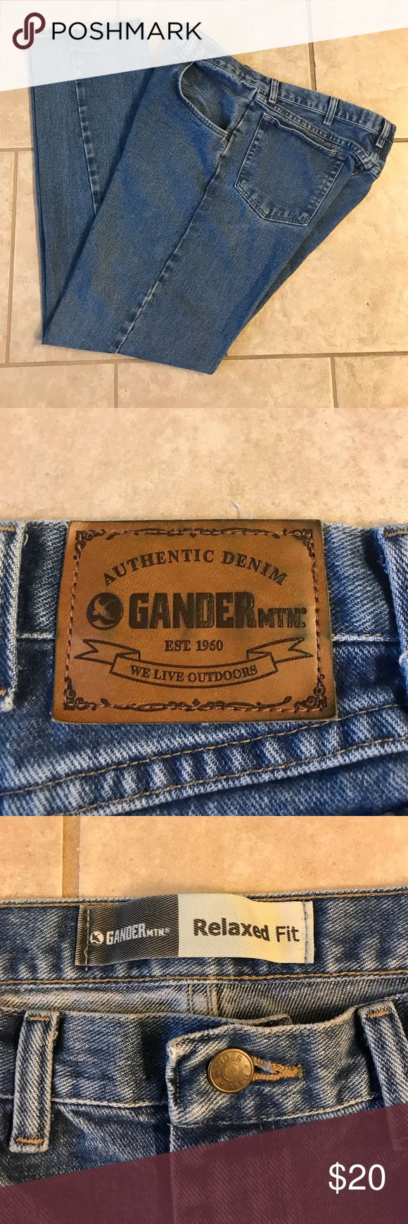 Gander Mountain mens jeans Very good condition, a little spot on the thigh, there is a pic, lightly worn. Gander Mountain Jeans