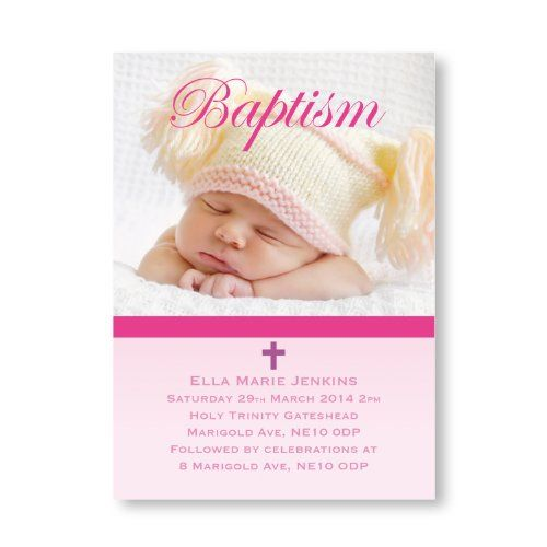 Invitation For Baptism Sms. Cute Pink Photo Insert Themed Single Sided Personalised Baby Christening  And Baptism Invitations From as little per card Including free envelopes and 18 best Elegant images on