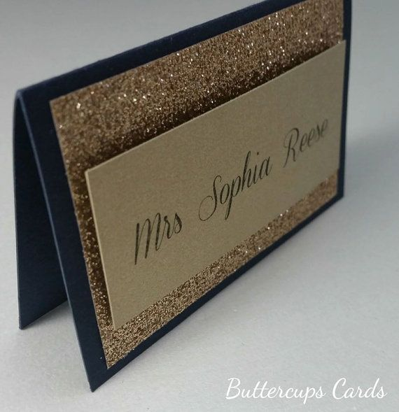 Hey, I found this really awesome Etsy listing at https://www.etsy.com/au/listing/202401516/glitter-gold-navy-name-card-luxury-name