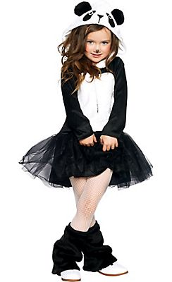 Girls Pretty Panda Costume