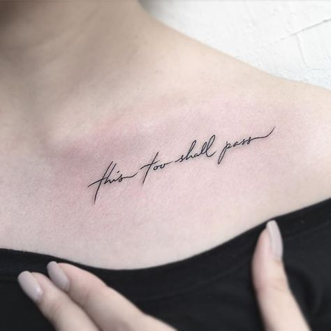31 Collarbone Quote Tattoos That Are as Meaningful as They Are Sexy