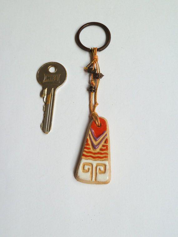 Ceramic+Key+Chain/+Hand+Made+Key+Chain+by+tulinozder+on+Etsy,+$15.00
