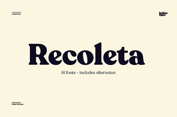 Recoleta Graphic Design Trends Lettering Typography