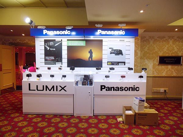 Panasonic Launch 2015 - Wall displays for camera equipment.