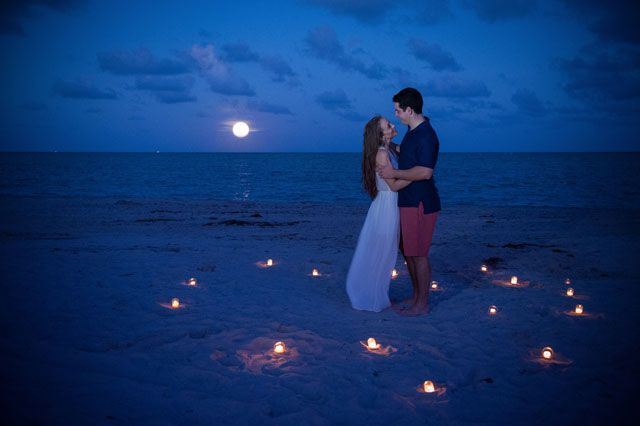 [DANCING ON THE BEACH BY CANDLE LIGHT - by Tracey-Ann Jarrett Photography #TJtheHAPPYphotographer ] A romantic engagement session at Fairchild Tropical Botanic Garden and Key Biscayne // photos by PhotoNotions Photography, LLC: http://www.tjphotonotions.com || see more on http://www.artfullywed.com
