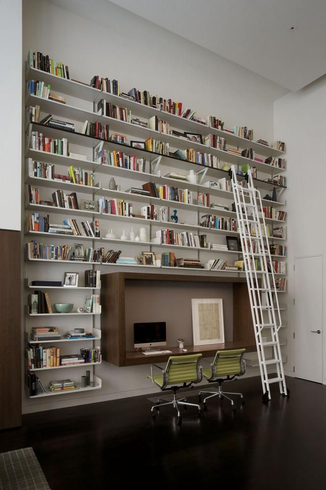 Home office at East 92nd Street Town House, New York by Eve Robinson Associates, Inc.