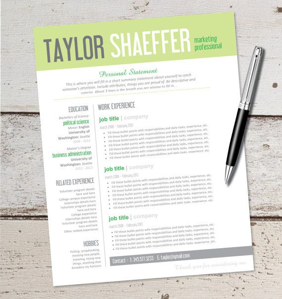 20 Best Resume Images On Pinterest | Resume Templates, Resume
