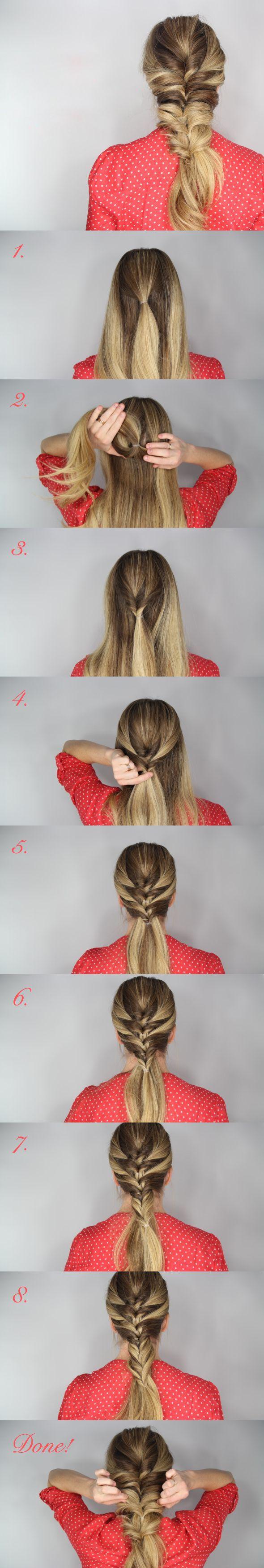 Shortcut to Fishtail Braid   Makeup Mania
