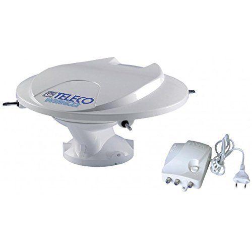 Teleco – Antenne Wing22 omnidirectionnelle 360° 12/24/230V + amplificateur AT42+ 5m et câble coaxial: Antenne TV omnidirectionnelle 360…