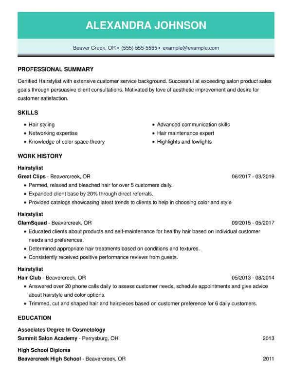 The 3 Resume Formats A Guide On Which Format To Use When Resume