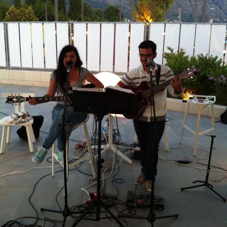 Kirki & Panos with their beautiful music every Tuesday and Friday at Horizon Blu