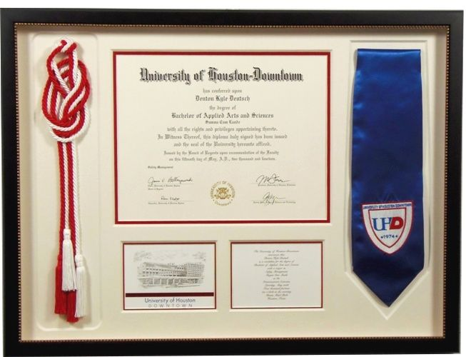 College Diploma & cords