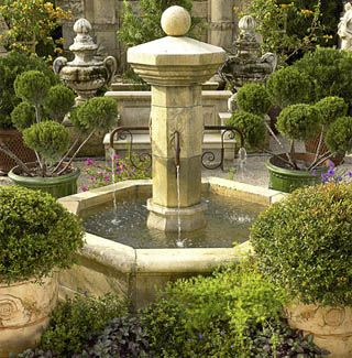 This Charming Century Style Provencal Fountain Has Four Spouts And Is  Octagonal In Shape. This Hand Carved Fountain Made From Limestone Is  Typical In Small ...