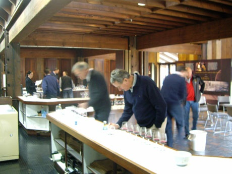 Ross Brown assesses new vintage wines at Milawa.