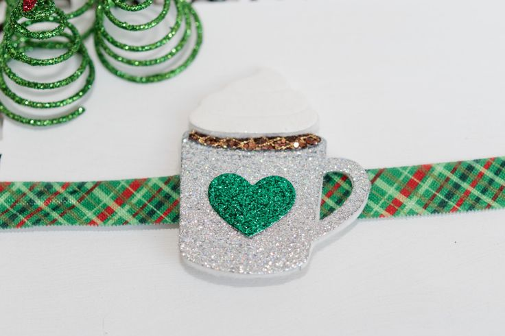 Hot Chocolate Glitter Mug Headband, Glitter Hair Bows, Hot Chocolate Hair Clip, Glitter Hair Clip, Glitter Headband, Glitter Bows by MagicGardenBowtique on Etsy