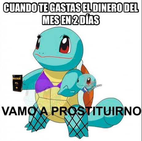 meme squirtle vamo a prostituirno