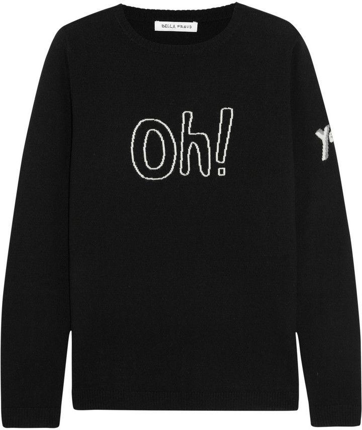 Bella Freud Oh intarsia wool sweater