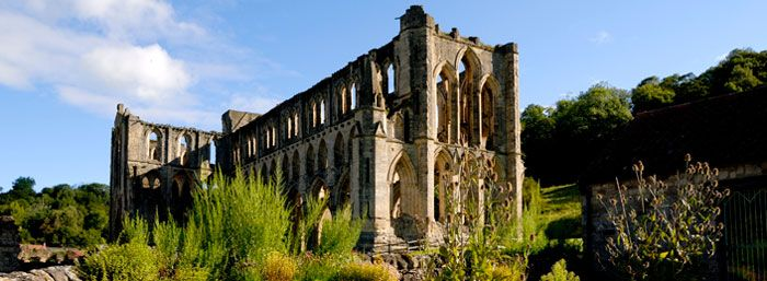 Rievaulx Abbey in the North York Moors Nat'l Park, England.  Beautiful abbey, amazing surroundings!