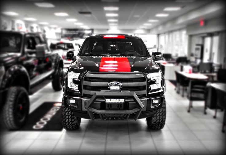 """2015 #Lifted Kentwood Kustoms #Ford F-150 Lariat """"Black ..."""
