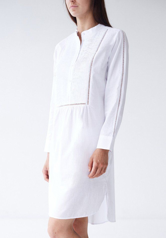 Lillie Sleepshirt - White