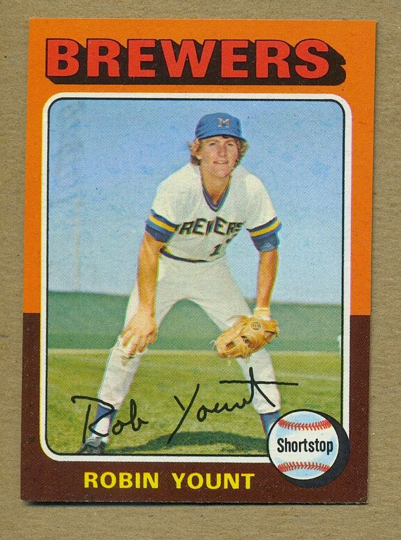 Vintage 1975 Robin Yount Rookie RC Topps Baseball Card - Hall Of Famer