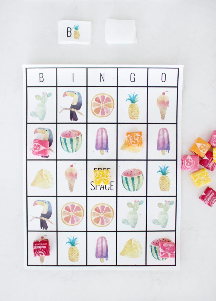 Summer Bingo Summer Bingo Bingo Card Template Summer Bingo Cards