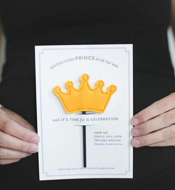 Little Prince #Baby Shower Invitations and Day-of Party Details: http://ohsobeautifulpaper.com/2014/07/katrinas-little-prince-baby-shower-invitations-ideas/   Design: Atheneum Creative   Photo: The Schultzes