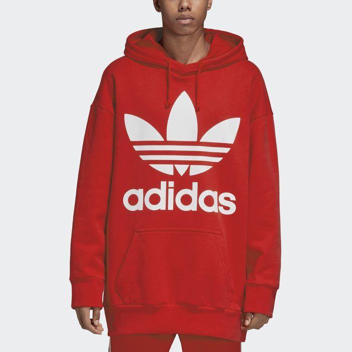 Trefoil Oversize Hoodie   Mens sweatshirts hoodie, Hoodies