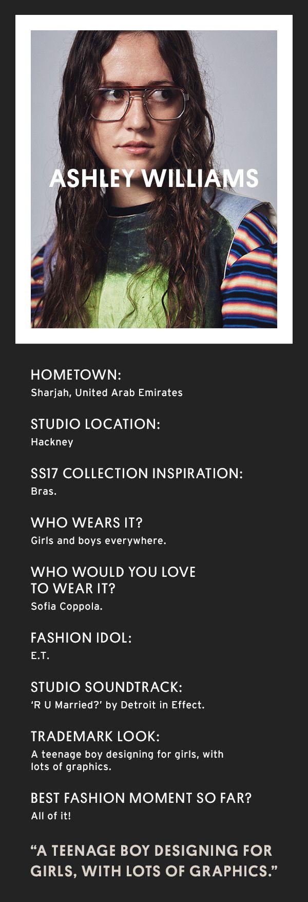 Meet NEWGEN designer Ashley Williams.