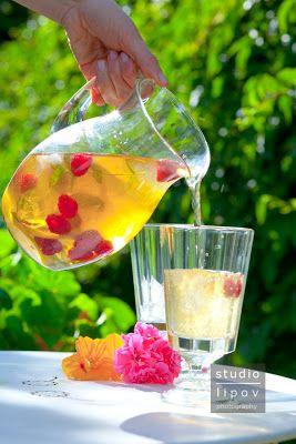 Mrożona herbata malinowa i jeżyk | Lawendowy Dom