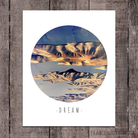 DREAM Wall Art /// Abstract Landscape Home by FRANCEillustration, $6.00