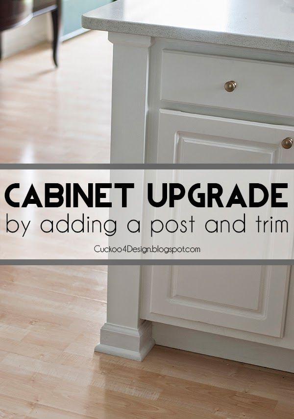 adding a kitchen counter post - Kitchen Cabinet Upgrades